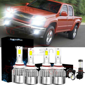 9005 9006 Led Headlight Bulb 9045 Fog Light 6000k For Chevy Colorado 2010 2012