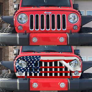 2007 2018 Jeep Wrangler Jk Unlimited Usa Flag Style Samurai Grille Front Grill