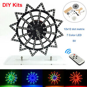 Colorful Led Automatic Rotating Ferris Wheel Kit Electronic Music Components Diy
