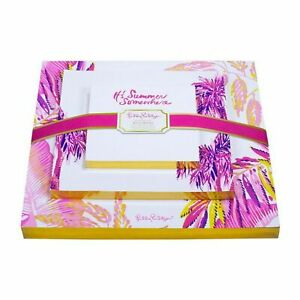 Lilly Pulitzer Off The Grid Set Of 3 It s Summer Somewhere Stationery Notepads