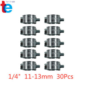 1 4 Fuel Injection Hose Clamp Auto Fuel Clamps New 30pcs