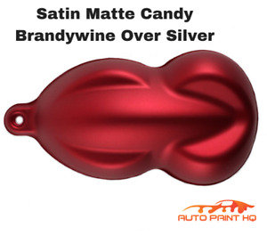 Satin Flat Candy Brandywine Over Silver Basecoat Tri Coat Gallon Auto Paint Kit