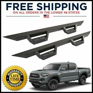 Magnum Rt Black Drop Steps Boards Bars For 2005 2020 Tacoma Double Cab