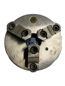 6 1 4 Bison 3 Jaw Self Centering Lathe Chuck D1 4 Mount 1 6535 Hole Thru