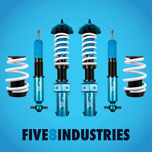 For 15 20 Ford Mustang 6th Gen Five8 Industries Full Coilovers Height Adjustable