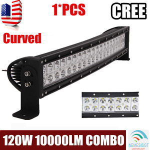 22inch 120w Led Light Bar Flood Spot Combo For Offroad Suv Atv Driving Vs 24