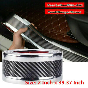 5d Car Sticker Carbon Fiber Molding Door Sill Rubber Protector Parts Accessories