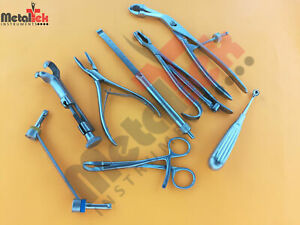 Orthopedic Surgical Instruments 10 Asortead Custom Made Set German Steel