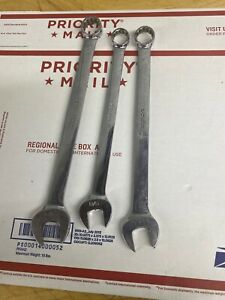 Lot Of 3 Snap On 5 8 9 16 3 4 12 Point Combination Wrench