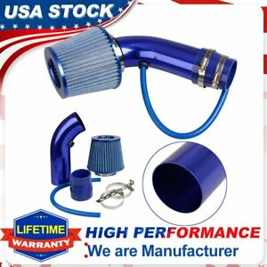 Air Flow Intake Kit Blue Pipe Diameter 3 Cold Air Intake Filter Clampaccessory