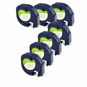 7pk Lt 91330 Dymo Letratag Refills Compatible With Dymo Label Maker Tape 12mm