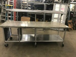 All Stainless Steel Table W 1 Granite Top 10 Available