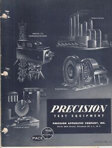 Vintage 1955 Precision Test Equipment Brochure Electronics Tube Testers Meter