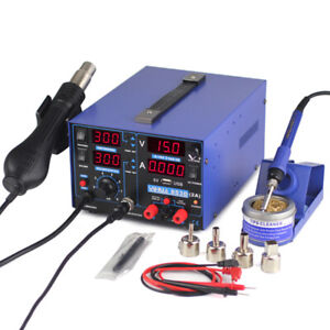 Yihua 853d Usb 2a Soldering Station 3 In 1 Solder Iron Hot Air Gun Iron Welding
