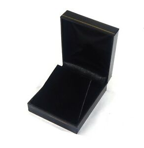 144 Large Earring Or Pendant Gift Boxes Black Classic Leatherette Display