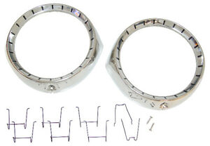 1954 Chevrolet Fullsize Pass Car Headlight Bezels Bel Air 150 210 All Model