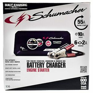 Schumacher Sc1341 Automatic Battery Charger engine Starter 120 Volts Refurbished