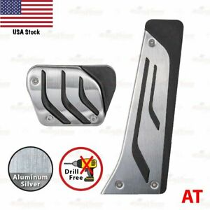 Automatic Stainless Steel Slip On Gas Fuel Brake Pedals Covers Universal Fit Bmw