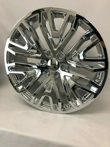 4 New 2019 Gmc Replica Wheels Chrome 24 Replica Chevy Gmc 1500