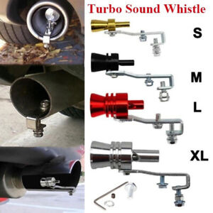Universal Car Turbo Sound Whistle Exhaust Pipe Oversized Roar Maker For Auto Ss