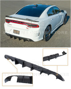 For 15 Up Dodge Charger Srt Oe Style Rear Bumper Dual Tips Exhaust Diffuser