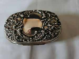 Antique Unger Brothers Sterling Repousse Traveling Hinged Soap Case Box No Mono