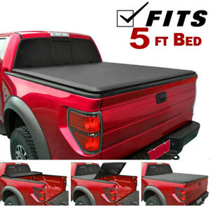 For 2005 2019 Nissan Frontier Crew Cab 5 Ft Bed Lock Tri Fold Soft Tonneau Cover