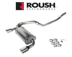 2016 2018 Focus Rs Roush 422102 Passive Cat Back Dual Exhaust System W 4 5 Tips