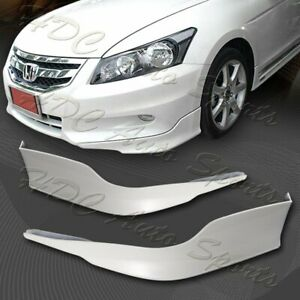 For 2011 2012 Honda Accord 4 dr Oe style Painted White Front Bumper Aprons Lip