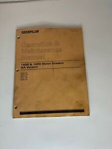 Caterpillar 140h 160h Motor Graders Operation Maintenance Manual Stains