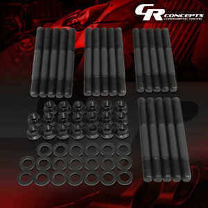Cylinder Front Head Stud Nut Kits For 1963 2001 Ford Small Block 289 302 4 7 5 0