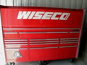 Matco Tools Red Heavy Duty Rolling Cabinet Tool Box 15 Drawer Cabinet Top