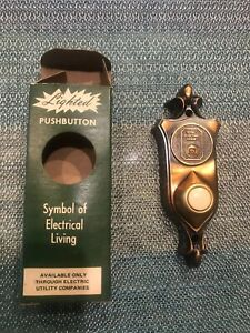 New Vintage 1960 S Lighted Pushbutton Total Electric Home Door Bell