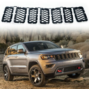 For 2017 2021 Jeep Grand Cherokee Black Grill Inserts Front Grill Inserts Cover