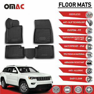 Floor Mats Liner Black 3d Molded For Jeep Grand Cherokee 2011 2021