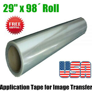 Us 29 X 98 Roll Application Tape Transparent Film With Pet For Image Transfer