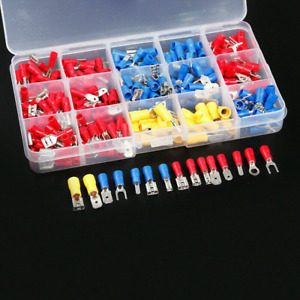 280pcs Assorted Crimp Spade Terminal Insulated Electrical Wire Connector Kit Us