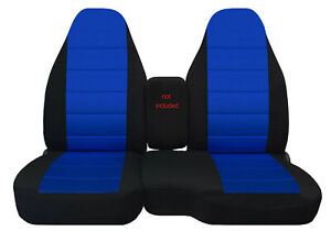 Fits 91 97 Ford Ranger 60 40 High Back Car Seat Covers Blk dark Blue