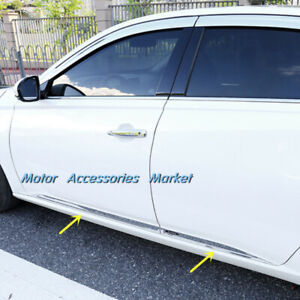 New Stainless Steel Body Door Side Molding Trim For Nissan Altima 2019 2020