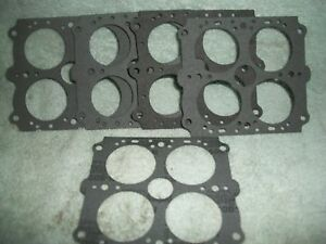 Holley 108 3 Throttle Plate Gasket 600 Base Imca Carb Carburetor Double Pump