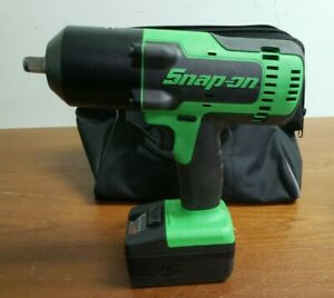Snap On Impact 18v Cordless Impact Wrench Ct8850g 1 Battery 1 Charger Nice