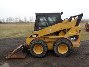 2013 Caterpillar 242b3 Cab heat air 2 Speed Pilot Controls 1 495 Hours