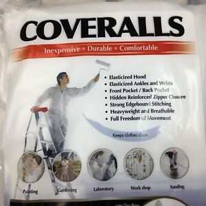 Xl Disposable Safety Coverall Suit With Hood Durable Breathable Protection Lab
