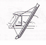 Ford Convertible Windshield Windscreen Post To Door Rubber Seal Set 1935 1939