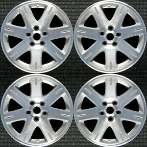 Chrysler 300 Machined W Silver Pockets 17 Oem Wheel Set 2005 To 2008