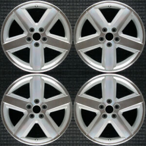 Dodge Avenger Machined W Silver Pockets 18 Oem Wheel Set 2008 To 2010