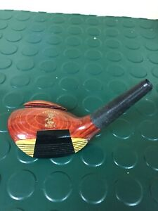 Desk Business Card Holder Display Paperweight Persimmon Golf Club Head
