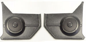 1967 68 Mustang Convertible Kick Panels With Speakers For Stereo Radio
