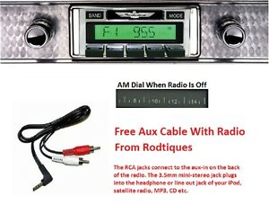 1955 Ford Thunderbird 300 Watt Stereo Radio Free Aux Cable Included 630 Ii