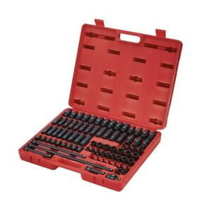 Sunex 80pc 3 8 Sae Metric 6pt Point Master Impact Sockets Set Tools Drive 3580